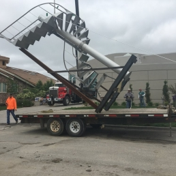 Staircase on trailer
